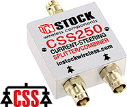 CSS250 - 2 Way, BNC, DC Fail-Safe Current Steering Splitter