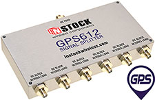 GPS612, 6-way GPS antenna signal splitter with SMA coaxial connectors spanning 1-2 GHz