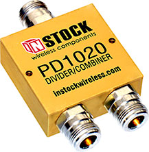 2-Way, N-Type, RF Power Divider, $39.99 each for qty 10
