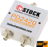 2 Way Power Divider / Combiner, 350-1000 MHz, SMA
