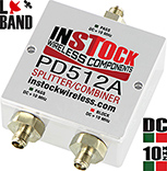 DC & 10 MHz Pass/Block L-band Splitter, SMA, 698 - 2700 MHz