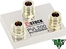 PVL200, Vertical Launch Power Combiner Divider, 2 Way, N Type