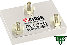2 Way Vertical Launch Power Divider Combiner, 698-2700 MHz, SMA