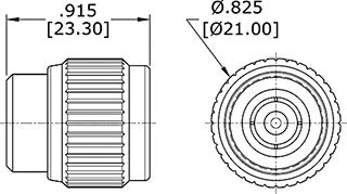 Coaxial Termination BNC Outline Drawing